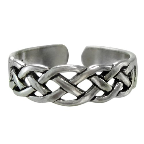 - Sterling Silver Celtic Knot Toe or Pinky Ring Body Jewelry