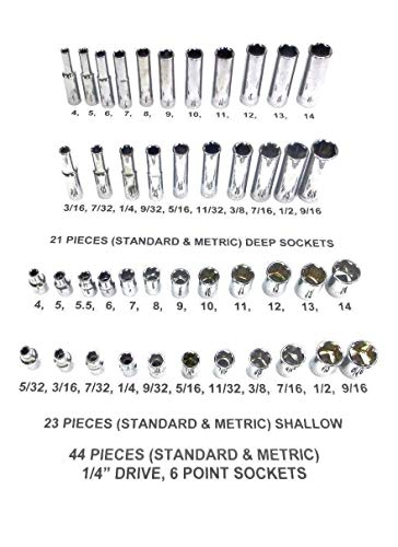 Craftsman 44 Piece Sae Standard & Metric Mm 1/4