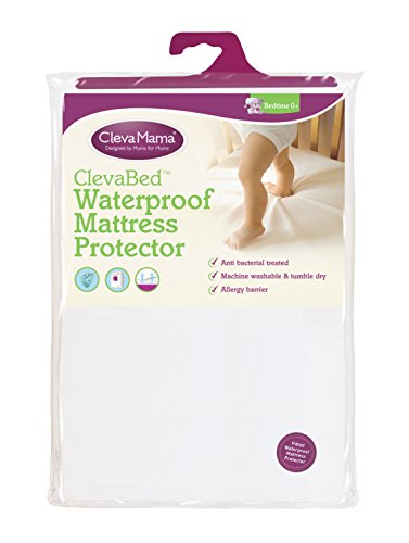 Clevamama Waterproof Mattress Protector Cot Bed (27.6'' x 55.1'') - Fitted, Brushed Cotton by Clevamama