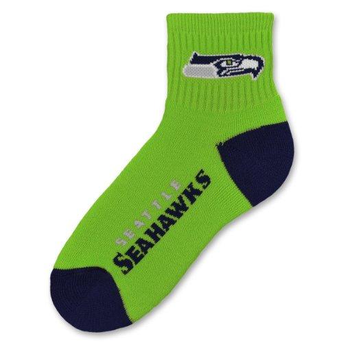 (NFL Seattle Seahawks Men's Team Quarter Socks, Large)