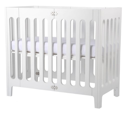 Bloom Alma Mini Urban Crib Frame Coconut White