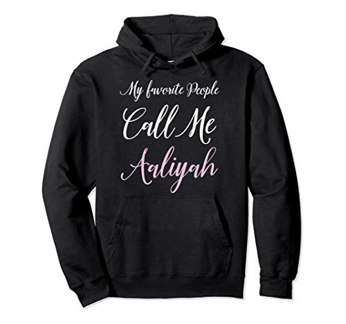 Aaliyah Name Hoodie Personalized Girls Women Cute Pink Gift