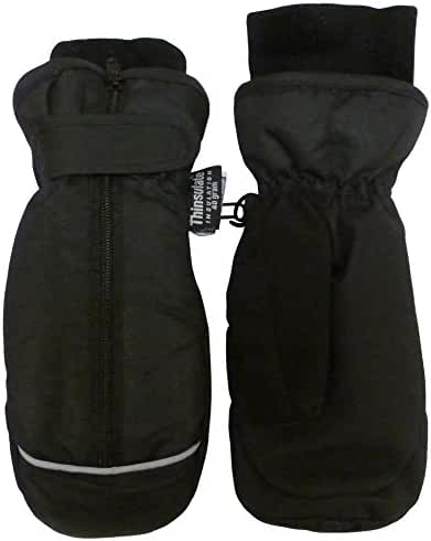 N'Ice Caps Kids Thinsulate and Waterproof Easy On Zip-Up Mittens