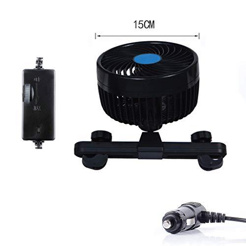 - YOUSIKE Universal 6 Inch 12V Car Strong Wind Fan Rear Seat Passenger Car Back Seat Headrest Cooling Air Fan for Sedan SUV RV Boat