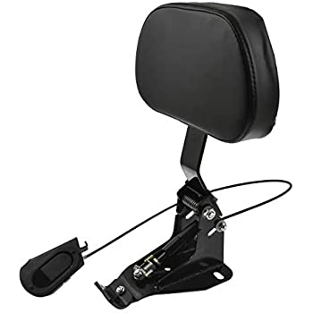 Adjustable Driver Rider Backrest Compatible with Harley Touring Street Glide FLHX FLHR 09-18 HTTMT SBB015