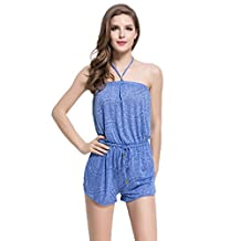 Abless Junior's Sunny Dazer Jumpsuit Womens Holiday Playsuit Romper Blue