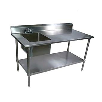 John Boos ept8r5 - 3060ssk-l mesa de trabajo con fregadero (S ...