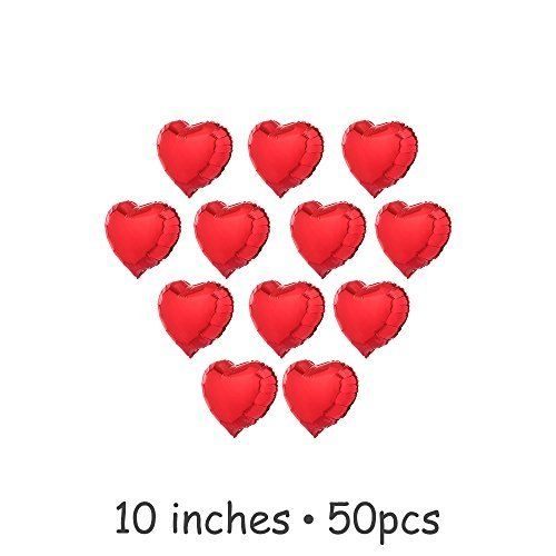 10 inch PLAIN LATEX BALLOONS Party Wedding Birthday Decorations red - 4