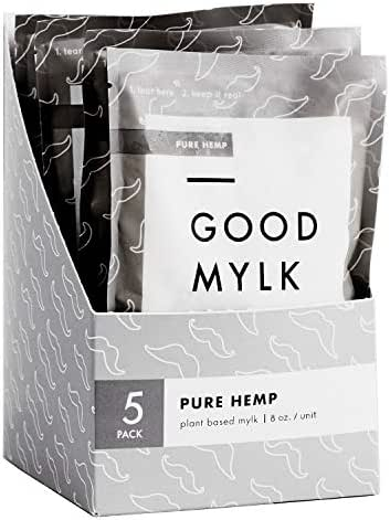 Goodmylk Co. - Ready to Drink Hemp Milk (10 Pack) - 8 oz Ready to Drink Packets - Organic, Non-GMO, Vegan, Low Glycemic, Sustainable, Keto, Dairy Free (Unsweetened)