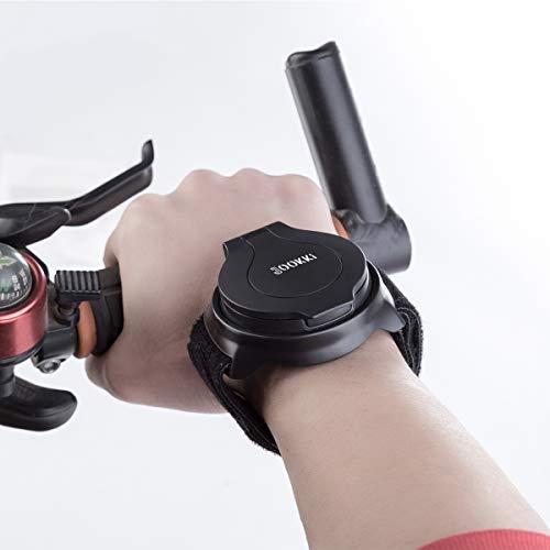 Bike Mirror,JOOKKI Rear View Bicycle Helmet Mirror,360 Degree Adjustable Wrist Mirror for Cycling by JOOKKI (Image #1)