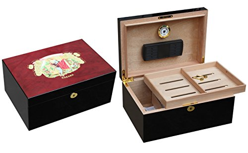 GORGEOUS PIANO FINISHED ROMEO Y JULIETA 100 CIGAR HUMIDOR