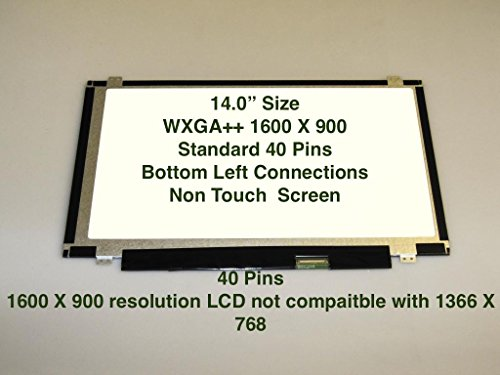 "14"" WXGA+ Matte Laptop LED Screen For IBM 93P5685"