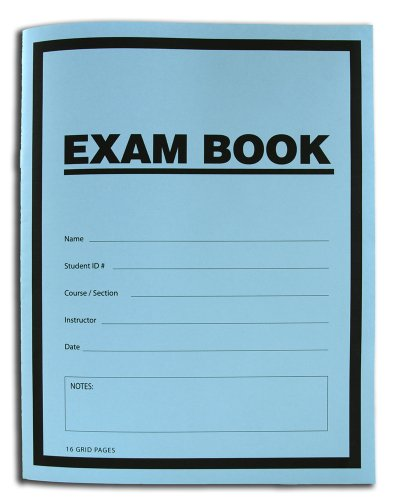 BookFactory Exam Blue Book/Blue Exam Book/Blue Test