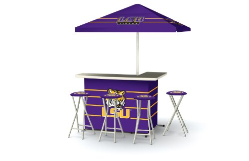 Best of Times Collegiate Patio Bar and Tailgating Center Deluxe Package- LSU