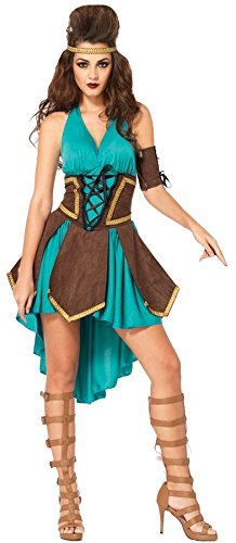 GTH Women's Historic Sexy Celtic Warrior Theme Party Halloween Costume, S/M -