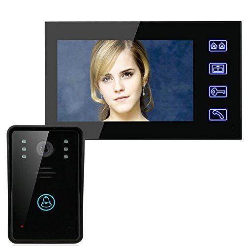 Latest 7' Wireless Video - OPLEY 7'' Door Phone Video Intercom Doorbell Touch Button Remote Night Vision Home Security Doorbell Monitor Camera SY816A11