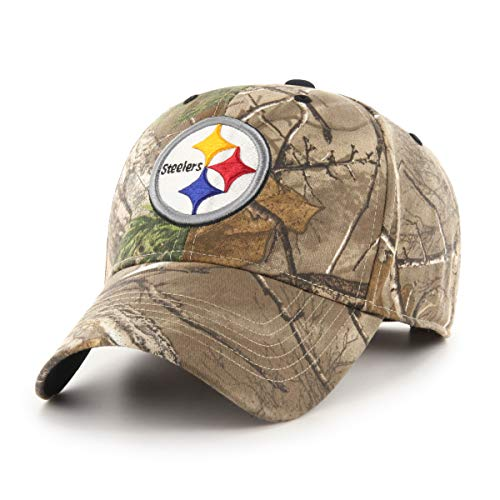 OTS Adult Men's NFL Star Adjustable Hat, Hickory Real Tree, One Size