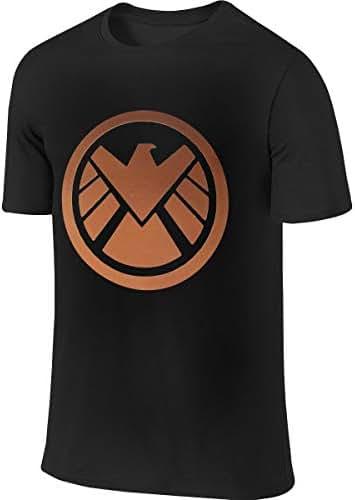 Kinggo Men's Customized Classic Tee Shirt Agents of Shield Logo T Shirts