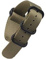 Arashen Zulu Strap 16/18/20/22/24/26mm Nylon Watch Bands Replacement Military Canvas Watch Strap Dive Nato One Piece Watchband