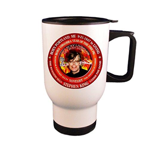 Fire King Mug Cup - Stephen King Writer Travel Mug/Cup,Astrology Virgo Libra Cusp Zodiac Fire Pig