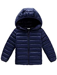 Gxia Boys Girls Winter Lightweight Hooded Down Jacket 2T-10T
