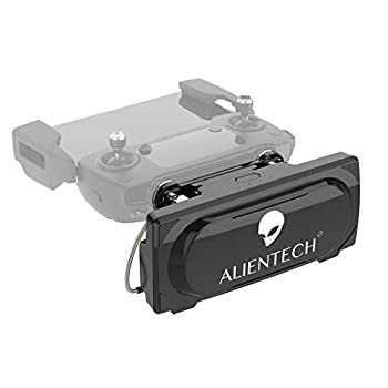 Image of ALIENTECH Pro 2.4G Antenna Signal Booster Range Extender for DJI Mavic Pro / 2 Pro / 2 Zoom/Air/Spark (PRO2.4G Booster, Black, with QMA-IPX 100mm Coaxial Cables)