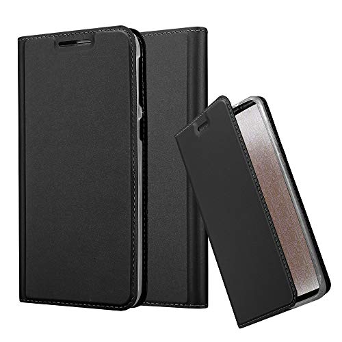 820 Smartphone - Cadorabo Book Case Works with HTC Desire 820 in Classy Black - with Magnetic Closure, Stand Function and Card Slot - Wallet Etui Cover Pouch PU Leather Flip