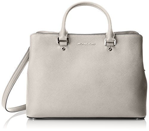 MICHAEL Michael Kors Women's Savannah Large Satchel, Cement, One Size by MICHAEL Michael Kors