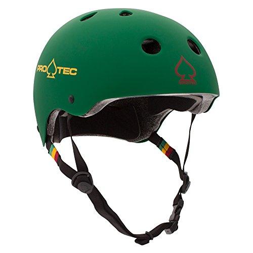 Pro-Tec PROTEC Original Classic Skate Helmet, Matte Rasta Green, (Classic Skate Helmet Matte)