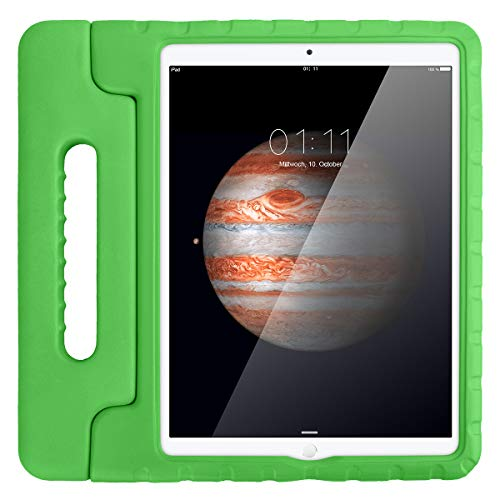 AICase Case for iPad Pro 12.9 2015 2017,Kids Shockproof Bumper Hard Cover Handle Stand with Screen Protector for iPad Pro 12.9 (1st 2015 and 2nd Gen 2017)(Green)