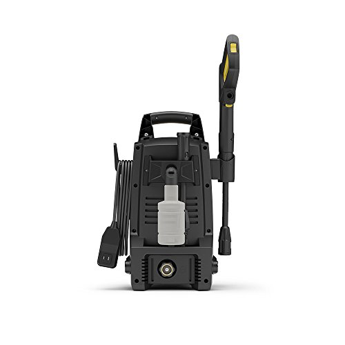 Stanley SHP1600 1600 Psi Electric Pressure Washer with Vari-Spray Nozzle, Wand, Spray Gun, 20' Hose & Detergent Bottle, Yellow by Stanley (Image #1)