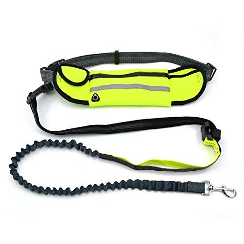 CuteBone Dog Running Leash Dog Harness Adjustable Pet Safety Dog Leash Collar For Training Walking Running GS02-1