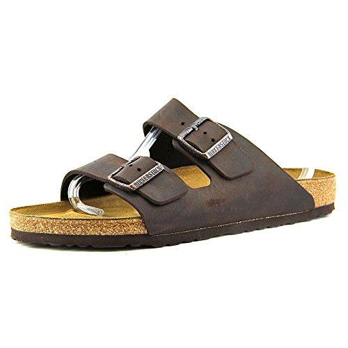 Unisex Brown Leather - Birkenstock Arizona Unisex Leather Sandal, Habana Oiled Leather, 40 M EU