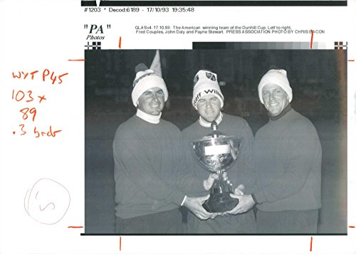 Vintage photo of John Daly (golfer) with Fred Couples ()