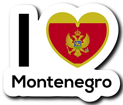 One 5 Inch Decal Love Montenegro Flag Decal Sticker Home Pride Travel Car Truck Van Bumper Window Laptop Cup Wall MKS0213