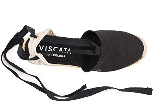 Con Black In Classiche 6 Spagna Alla Artigianalmente Zeppa Espadrillas Chiusa Punta Caviglia Viscata Escala Cm Prodotte 3 Lacci wqZtEgTna