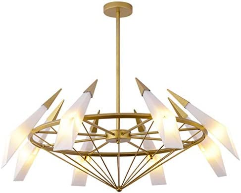H.L Lámpara de Techo Colgante de Cristal Verde con diseño