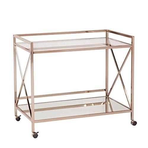 Maxton Bar Cart in Metallic Gold Finish