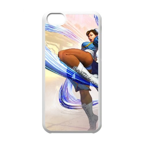 Street Fighter V 8 coque iPhone 5c cellulaire cas coque de téléphone cas blanche couverture de téléphone portable EEECBCAAN03225