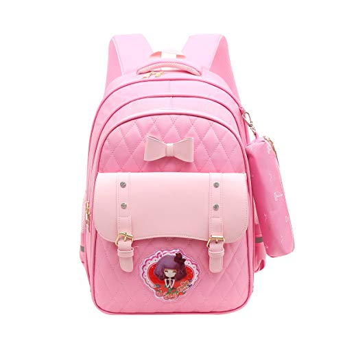 Tinytot Designer Hi Storage School Backpack School Bag for Girls (Pink) 25 L