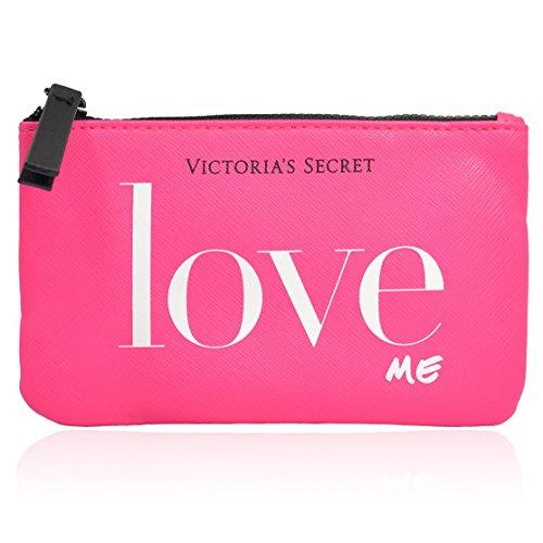 Victoria's Secret Love Me Small Travel Pink Zipper Cosmetic
