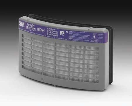 3M TR-3712N-40 Versaflo TR-3712N Replacement HE Filter for Use with TR-300 Series PAPR, Plastic, 1'' x 1'' x 1''