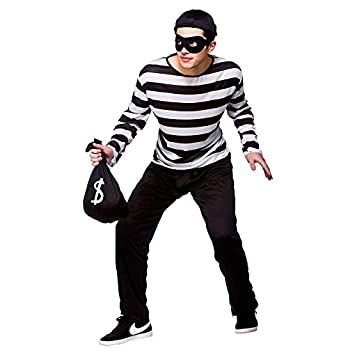 Adult Mens Burglar/Robber Fancy Dress Costume