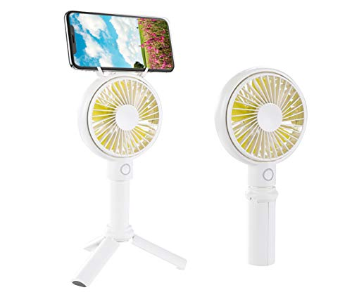 Moeye Mini Handheld Tripod Fan with Foldable Smartphone Holder