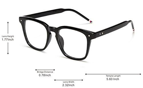 Gafas de Para Lente Hombres Gafas,Gafas amp;L Black J Retro GLASSES Adulto,Estilo Mujeres transparente Sol Unisex qwtfgZB