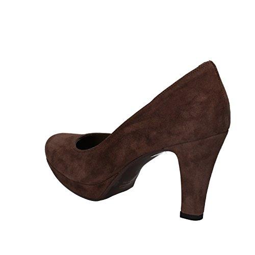 vestir de ante mujer Zapatos Marrón de ALBANO para SBqUgESw