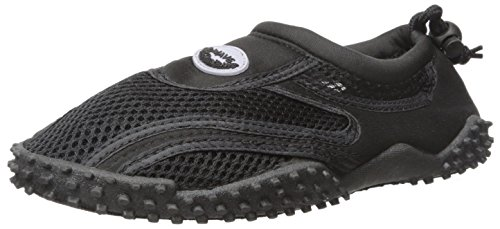 Women's Wave Water Shoes Pool Beach Aqua Socks,Yoga, Exercise (8, Black/Black)