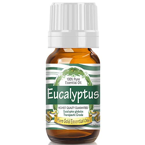 Eucalyptus Essential Oil (100% Pure, Natural, UNDILUTED) 10ml - Best Therapeutic Grade - Perfect for Your Aromatherapy Diffuser, Relaxation, More! ()
