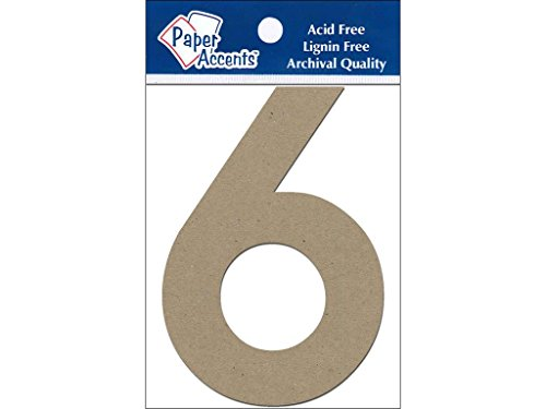 Accent Design Paper Accents Chip Numbers 2pc Natural ChipNum 4