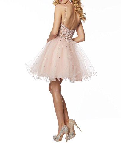 Festlichkleider Kurzes Mini Charmant Dunkel Tanzenkleider Lila Partykleider Abendkleider Festlichleider Cocktailkleider Damen Spitze 7pUO0wq